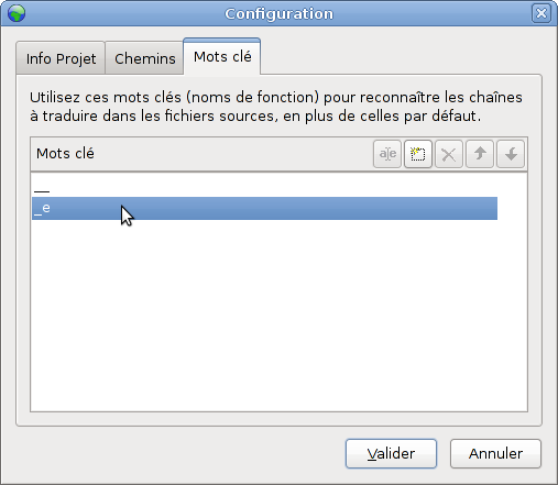 Poedit project configuration, Tab 3