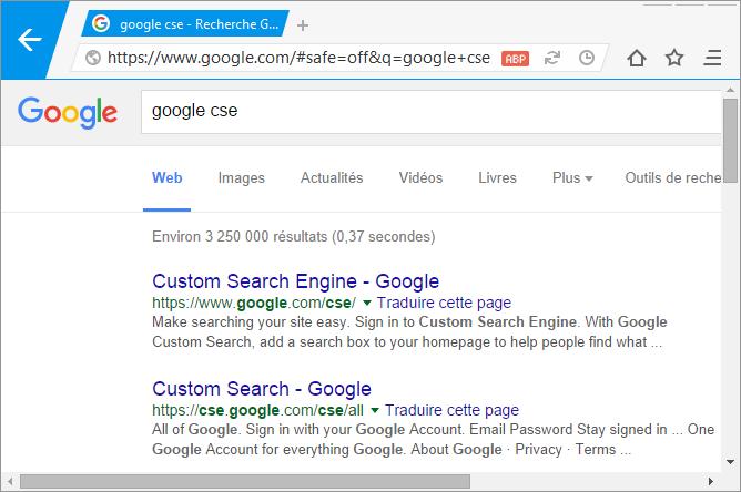 Nitro without Google CSE